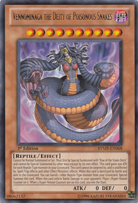 YuGiOh! TCG karta: Vennominaga the Deity of Poisonous Snakes