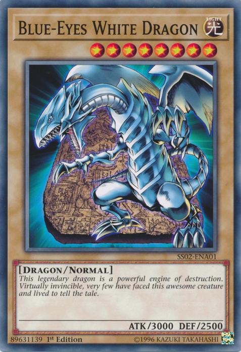 Yugioh-Japonais-Blue-Eyes White Dragon-Holographique parallèle 20AP-JP000