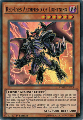 RedEyes Archfiend of Lightning CORE
