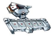 Battle City Alpha Disk - Silver