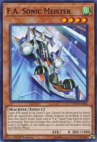 YuGiOh! TCG karta: F.A. Sonic Meister