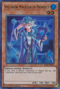 YuGiOh! TCG karta: Spellbook Magician of Prophecy
