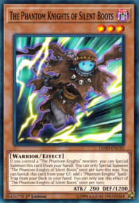 YuGiOh! TCG karta: The Phantom Knights of Silent Boots
