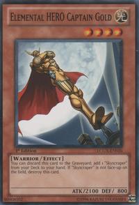 YuGiOh! TCG karta: Elemental HERO Captain Gold