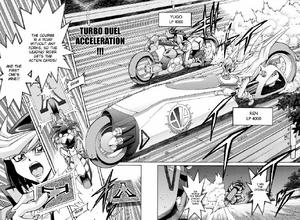 Ren and Yugo in Turbo Duel