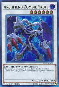 YuGiOh! TCG karta: Archfiend Zombie-Skull
