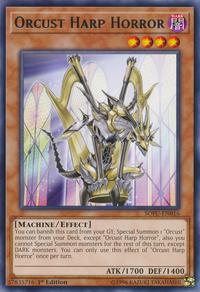 YuGiOh! TCG karta: Orcust Harp Horror