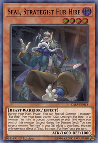 YuGiOh! TCG karta: Seal, Strategist Fur Hire