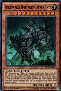 YuGiOh! TCG karta: Subterror Behemoth Stalagmo