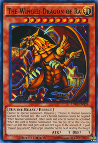 YuGiOh! TCG karta: The Winged Dragon of Ra