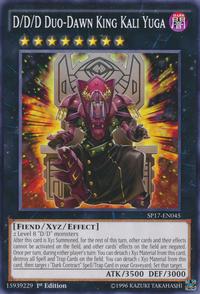 YuGiOh! TCG karta: D/D/D Duo-Dawn King Kali Yuga