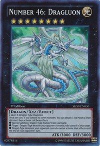 YuGiOh! TCG karta: Number 46: Dragluon