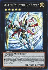 YuGiOh! TCG karta: Number C39: Utopia Ray Victory