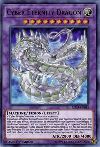 YuGiOh! TCG karta: Cyber Eternity Dragon