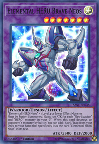 YuGiOh! TCG karta: Elemental HERO Brave Neos