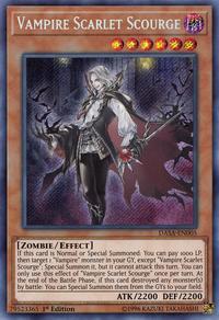 YuGiOh! TCG karta: Vampire Scarlet Scourge