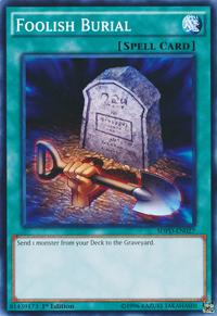 YuGiOh! TCG karta: Foolish Burial