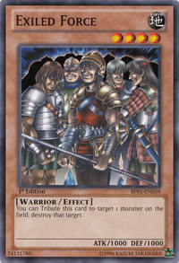 YuGiOh! TCG karta: Exiled Force