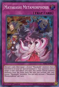 YuGiOh! TCG karta: Mayakashi Metamorphosis