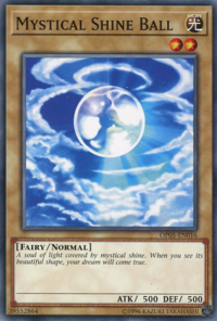 YuGiOh! TCG karta: Mystical Shine Ball