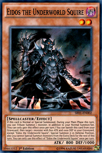 YuGiOh! TCG karta: Eidos the Underworld Squire