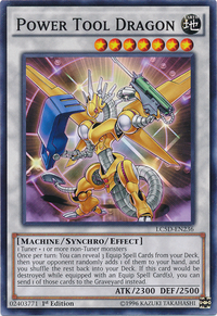 YuGiOh! TCG karta: Power Tool Dragon