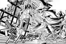 D-114 Dark Yugi faces Slifer