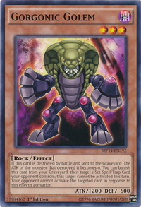YuGiOh! TCG karta: Gorgonic Golem