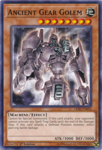 YuGiOh! TCG karta: Ancient Gear Golem