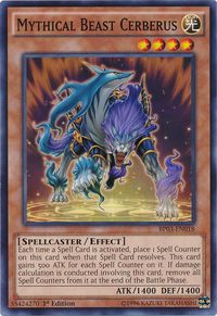YuGiOh! TCG karta: Mythical Beast Cerberus