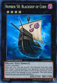 YuGiOh! TCG karta: Number 50: Blackship of Corn