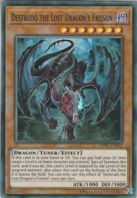 YuGiOh! TCG karta: Destrudo the Lost Dragons Frisson