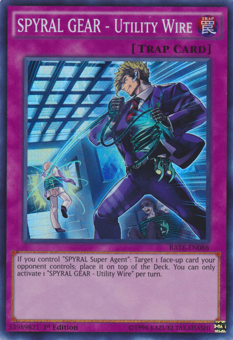 SPYRAL GEAR - Utility Wire | Yu-Gi-Oh! | FANDOM powered by Wikia