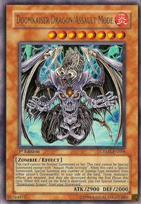 YuGiOh! TCG karta: Doomkaiser Dragon/Assault Mode