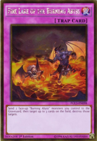 YuGiOh! TCG karta: Fire Lake of the Burning Abyss
