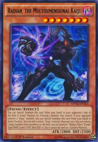 YuGiOh! TCG karta: Radian, the Multidimensional Kaiju