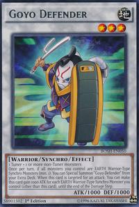 YuGiOh! TCG karta: Goyo Defender