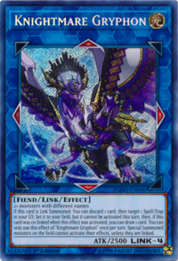 YuGiOh! TCG karta: Knightmare Gryphon