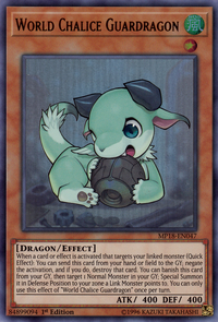 YuGiOh! TCG karta: World Chalice Guardragon