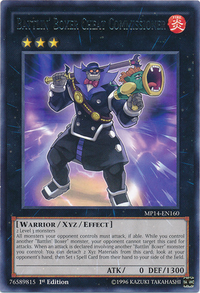 YuGiOh! TCG karta: Battlin Boxer Cheat Commissioner