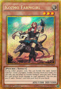 YuGiOh! TCG karta: Kozmo Farmgirl