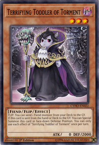 YuGiOh! TCG karta: Terrifying Toddler of Torment