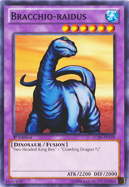 Bracchio-Raidus-Dinosaur-Fusion LCJW-Two-Headed-king-Rex/_Crawling Dragon yugioh