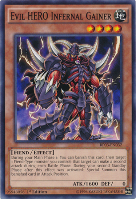 Evil HERO Infernal Gainer BP03