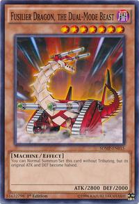 YuGiOh! TCG karta: Fusilier Dragon, the Dual-Mode Beast