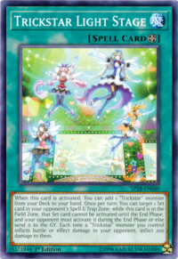YuGiOh! TCG karta: Trickstar Light Stage