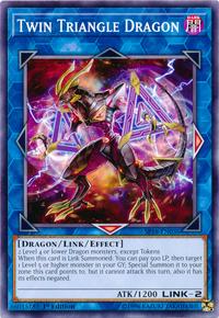 YuGiOh! TCG karta: Twin Triangle Dragon