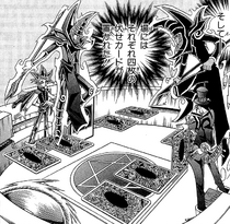 Dark Yugi VS Pandora - face-down buildup