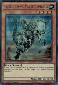 YuGiOh! TCG karta: Fossil Dyna Pachycephalo