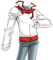 Slifer Red Uniform - WHITE INVERTED